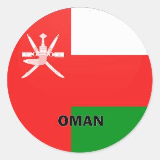 Bandera de la calidad de Omán Roundel Pegatina Redonda