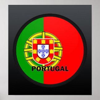 Bandera de la calidad de Portugal Roundel Poster