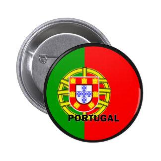 Bandera de la calidad de Portugal Roundel Pin Redondo De 2 Pulgadas