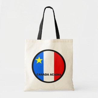 Bandera de la calidad de Roundel del Acadia de Can Bolsa Tela Barata