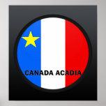 Bandera de la calidad de Roundel del Acadia de Can Posters