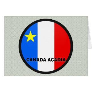 Bandera de la calidad de Roundel del Acadia de Can Tarjeta De Felicitación