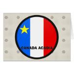 Bandera de la calidad de Roundel del Acadia de Can Felicitaciones