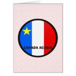 Bandera de la calidad de Roundel del Acadia de Can Felicitación