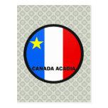 Bandera de la calidad de Roundel del Acadia de Can Tarjeta Postal