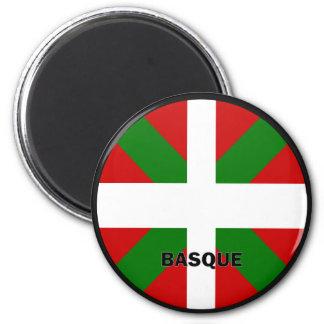 Bandera de la calidad de Roundel del vasco Imán Redondo 5 Cm