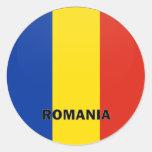 Bandera de la calidad de Rumania Roundel Etiqueta Redonda