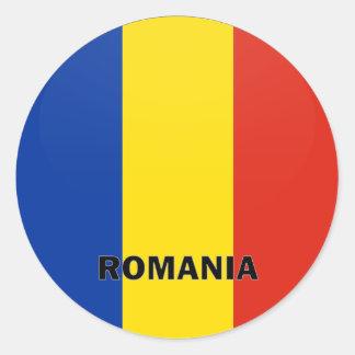 Bandera de la calidad de Rumania Roundel Pegatina Redonda