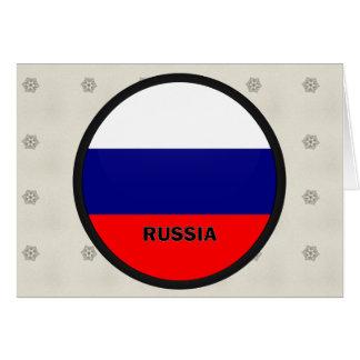 Bandera de la calidad de Rusia Roundel Felicitación