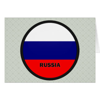 Bandera de la calidad de Rusia Roundel Tarjeton