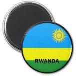 Bandera de la calidad de Rwanda Roundel Imán Redondo 5 Cm