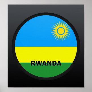 Bandera de la calidad de Rwanda Roundel Impresiones