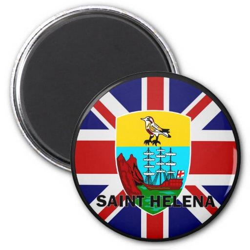 Bandera de la calidad de Santa Helena Roundel Imán Redondo 5 Cm
