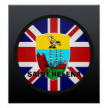 Bandera de la calidad de Santa Helena Roundel Impresiones