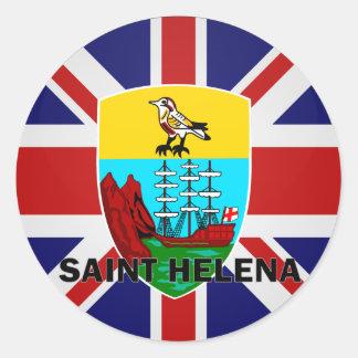 Bandera de la calidad de Santa Helena Roundel Pegatina Redonda