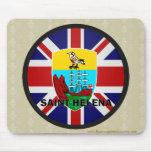 Bandera de la calidad de Santa Helena Roundel Tapetes De Ratones