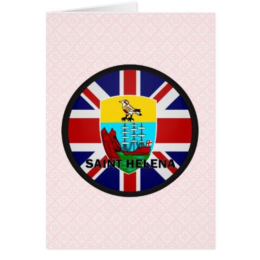 Bandera de la calidad de Santa Helena Roundel Tarjetón