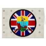 Bandera de la calidad de Santa Helena Roundel Tarjeton