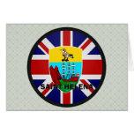 Bandera de la calidad de Santa Helena Roundel Felicitacion