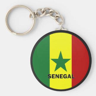Bandera de la calidad de Senegal Roundel Llaveros Personalizados
