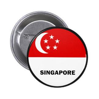 Bandera de la calidad de Singapur Roundel Pins