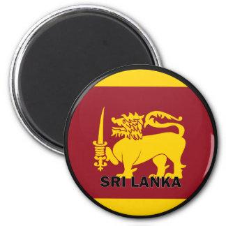 Bandera de la calidad de Sri Lanka Roundel Imán Redondo 5 Cm