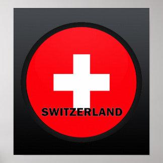 Bandera de la calidad de Suiza Roundel Posters