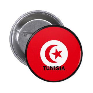 Bandera de la calidad de Túnez Roundel Pin Redondo 5 Cm