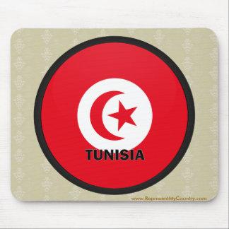 Bandera de la calidad de Túnez Roundel Tapetes De Raton