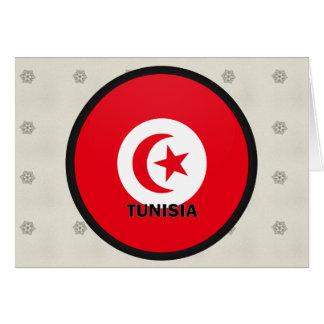 Bandera de la calidad de Túnez Roundel Tarjeta De Felicitación