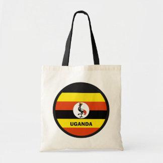 Bandera de la calidad de Uganda Roundel Bolsas Lienzo