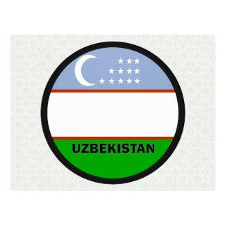 Bandera de la calidad de Uzbekistán Roundel Tarjetas Postales