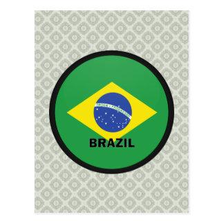 Bandera de la calidad del Brasil Roundel Postales