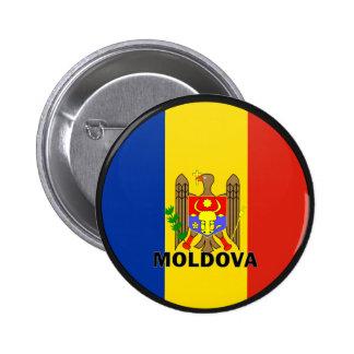 Bandera de la calidad del Moldavia Roundel Pin Redondo 5 Cm
