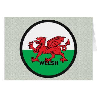 Bandera de la calidad Galés Roundel Tarjetón