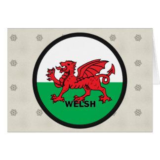 Bandera de la calidad Galés Roundel Tarjeta