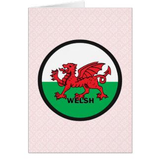 Bandera de la calidad Galés Roundel Tarjetas