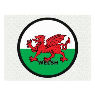 Bandera de la calidad Galés Roundel Tarjetas Postales