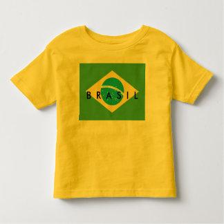 Bandera de la camisa del niño del Brasil