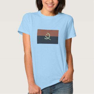 Bandera de la camiseta de Angola para las mujeres Remeras