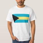 Bandera de la camiseta de Bahamas Playeras