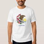 Bandera de la camiseta de Illinois Poleras