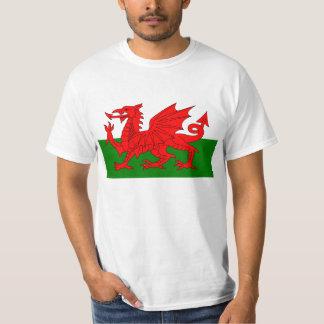 Bandera de la camiseta de País de Gales Camisas