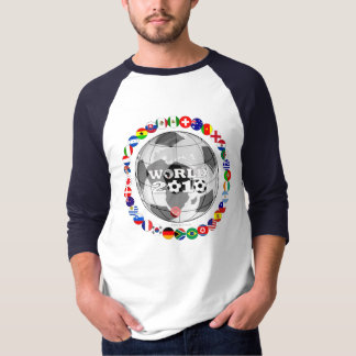 Bandera de la camiseta del globo del mundial camisas