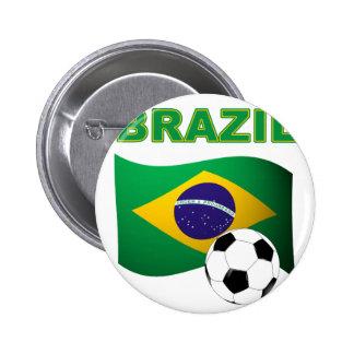 Bandera de la camiseta del mundial del Brasil Pin