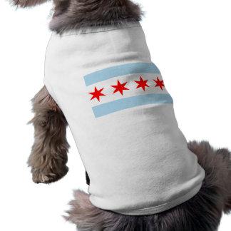 Bandera de la camiseta del perro de Chicago Playera Sin Mangas Para Perro