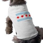 Bandera de la camiseta del perro de Chicago Camisas De Mascota