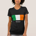 Bandera de la camiseta negra de la mujer de Irland