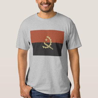 Bandera de la camiseta para hombre de Angola Remera