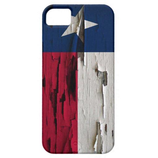 Bandera de la cáscara de la pintura de Tejas iPhone 5 Funda